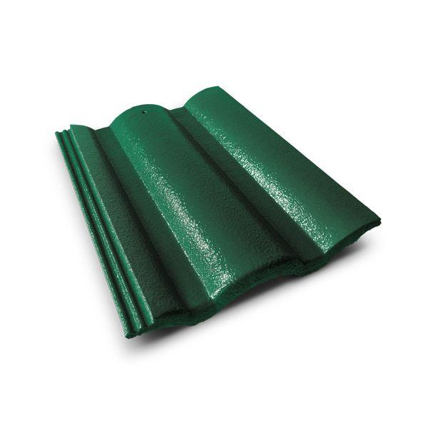 กระเบื้องคอนกรีต ตราเพชร สีเขียวสนฉัตร